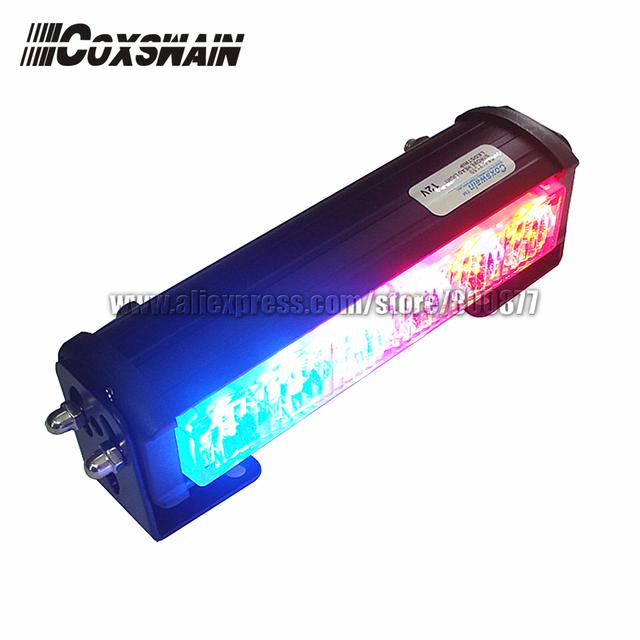 DC12V High Power Car LED external warning light, TIR-6 1W LED, 3 flash patterns, waterproof, SAE & ECE R65 passed (SA-618-1)
