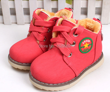Size 21 30 Kids Wniter Shoes baby shoes bab thicken cotton padded shoes children winter warm