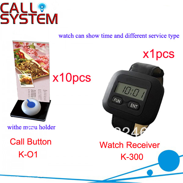 Wireless Calling System for Restaurant Hotel Casino service waterproof button installed on table for customer Shippign Free