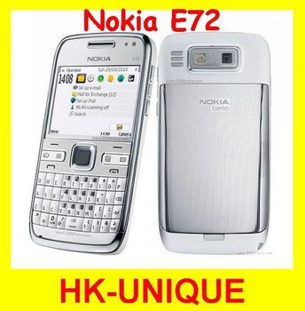 Original Unlocked Nokia E72 3G network WIFI GPS Russian keyboard language cell phones free shipping