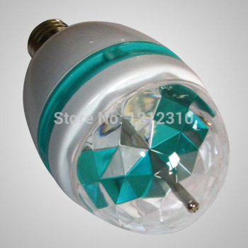 E27 Full Color 6W RGB LED projector Crystal Stage Light Magic Ball DJ dace party disco effect Light Bulb Lamp(China (Mainland))