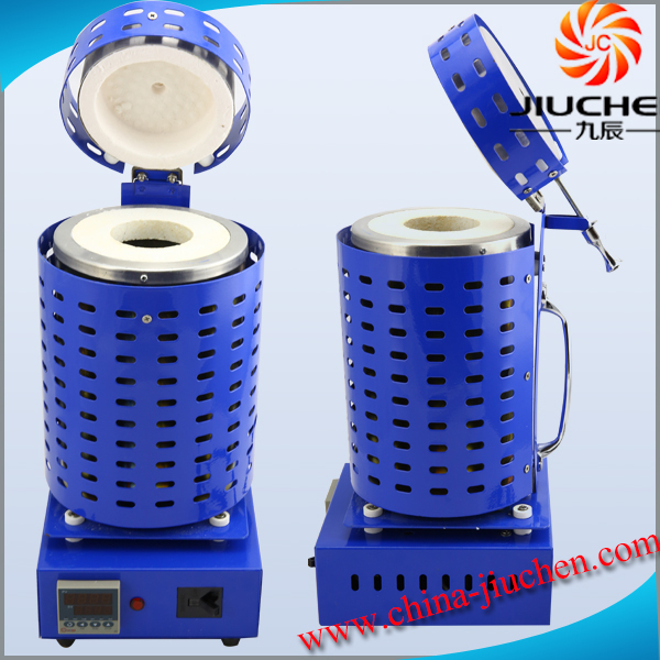 JC-K-110-2 110V 1800Watt 2kg 3kg Small Metal Melting Furnace Blue Color with Melting Speed 15-20Mins(China (Mainland))