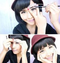 3 Eyebrow Shaping Stencils Grooming Kit Makeup Tools 1 Eye Brow Waterproof Black Brown Pencil With