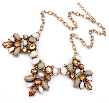 Hot Brand Vintage Kolye Charm Good Quality Pendants Necklaces Gem Chain Maxi Necklace Boho jewelry Lady Necklace sf-66