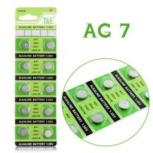 Hot selling 10 Pieces AG7 L927 395 SR57 SR927SW 195 Button Coin Cell Alkaline Battery 1.55V EE6208