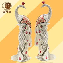 Jane European creative couple peacock decoration ornaments living room foyer entrance furnishings auspicious wedding gifts
