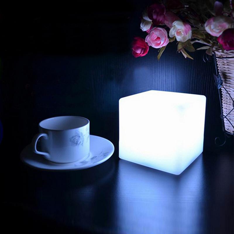 Гаджет  NEW 7 Color LED Colorful Changing Mood Cubes Night Glow Lamp Light Gadget Gizmo Home Decor Romantic Lighting None Свет и освещение