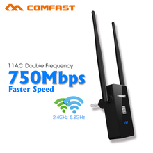 COMFAST Wireless WIFI Repeater 750Mbps Router Dual Band 2.4G/5.8G 802.11AC WI-FI Repeater Wi fi Roteador Signal Booster Extender(China (Mainland))