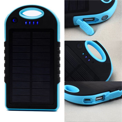 5000mAH solar usb powerbank protable mobile phone external battery charger power bank backup powers charging for iPhone Samsung(China (Mainland))