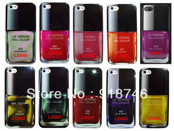 10 colors Retail Wholesale High Grade TPU Fashion Nail Polish Case Cover For Apple iPhone 5 5G Free Drop Shipping