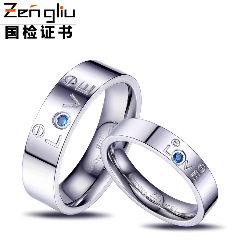 Zengliu ring a pair of lovers male Women didymous topaz stone couple ring love<br><br>Aliexpress