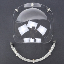 retro helmet bubble visor 9 color available open face helmet windshield compatible with 3 pin helmet adjustable(China (Mainland))