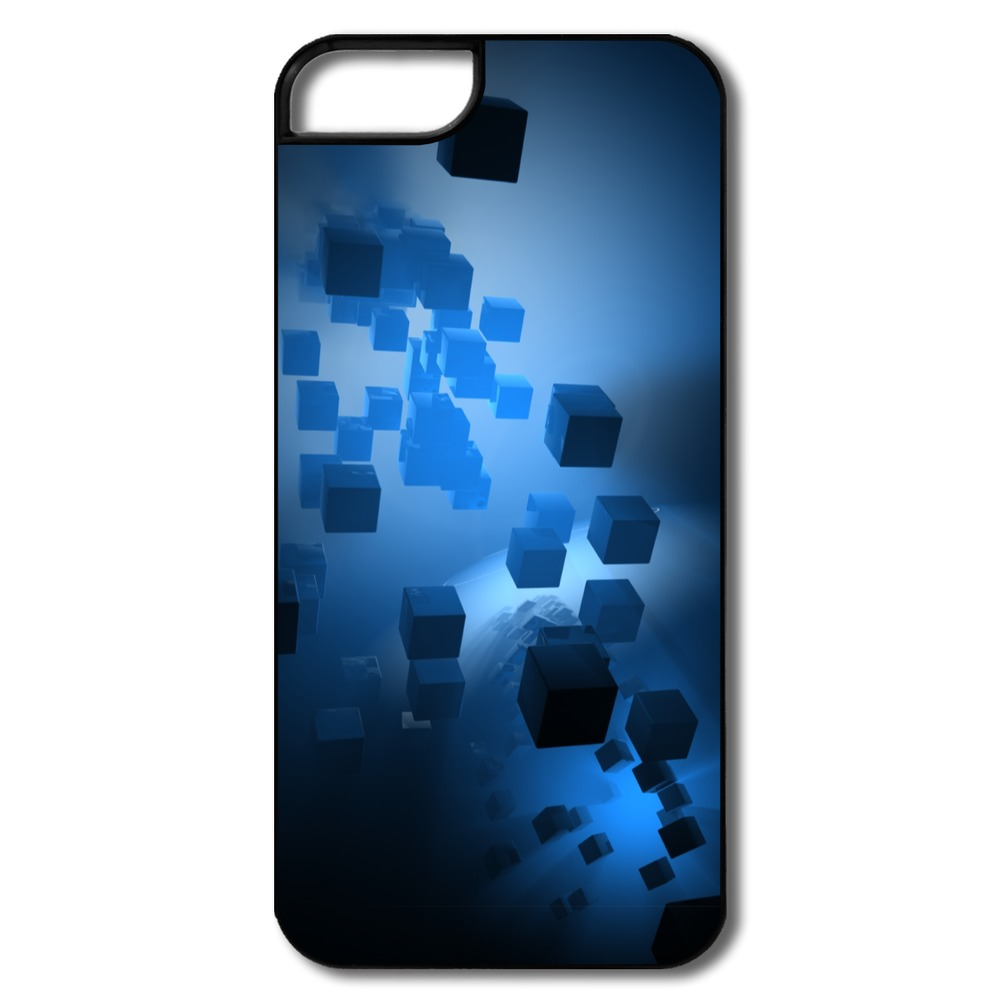 2014 Style Personalized For Iphone 5 Cover Cubes Abstract Creat Your Own 5 Covers With Art Picture(China (Mainland))