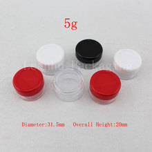 5g ,10g Empty Plastic Container Screw Lid Nail Art ,Balm Small Make Cosmetic Cream Jar,Display Sample Bottles Pot - Packaging E shop store