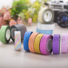 8 colors 10m glitter tape strong adhesive for masking deco washy tape