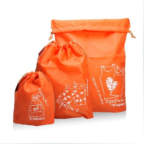 Free shipping Travel Drawstring Bags,sundries bag ,storage bags,Multifunctional Bags 3PCS S/M/L 90g