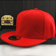 Men Women Baseball Cap Solid Hip-Hop Snapback Flat Peaked Hat Visor Cap(China (Mainland))