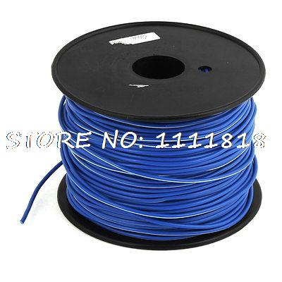 19/3 AWG Wire Copper Cores PVC Coated Sleeve RVV Cable Cord Blue 328 Feet<br><br>Aliexpress