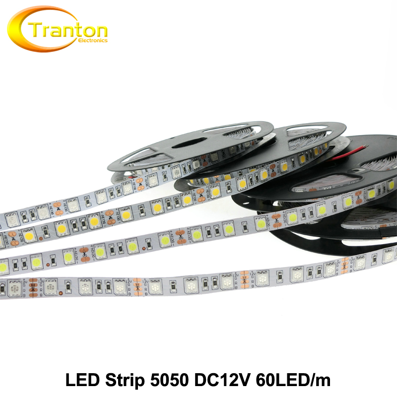 LED Strip 5050 DC12V Flexible LED Light 60 LED/m White / Warm White / Cold White Red / Greed / Blue \ Yellow / RGB 5m/lot.(China (Mainland))