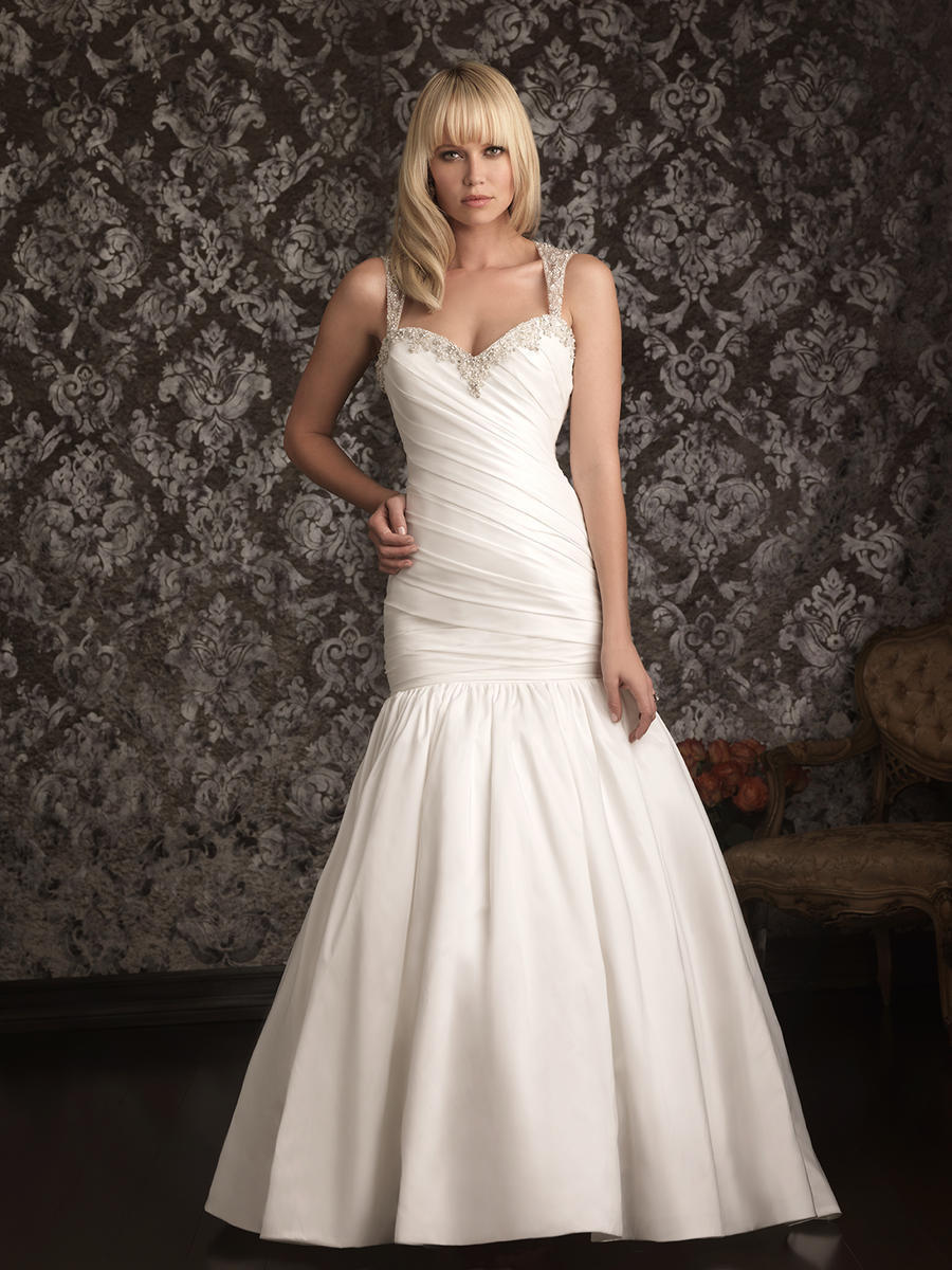 Buy fabulous taffeta ball gown crystal for Sweetheart wedding dress with straps