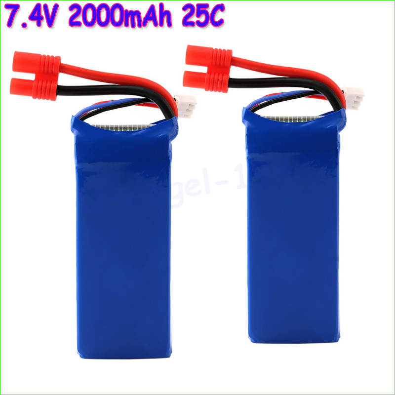 Wholesale 2pcs/lot 7.4V 2000mAh 25C Lipo Battery for Syma X8C RC Quadcopter Helicopter Banana Connector Dropship<br><br>Aliexpress