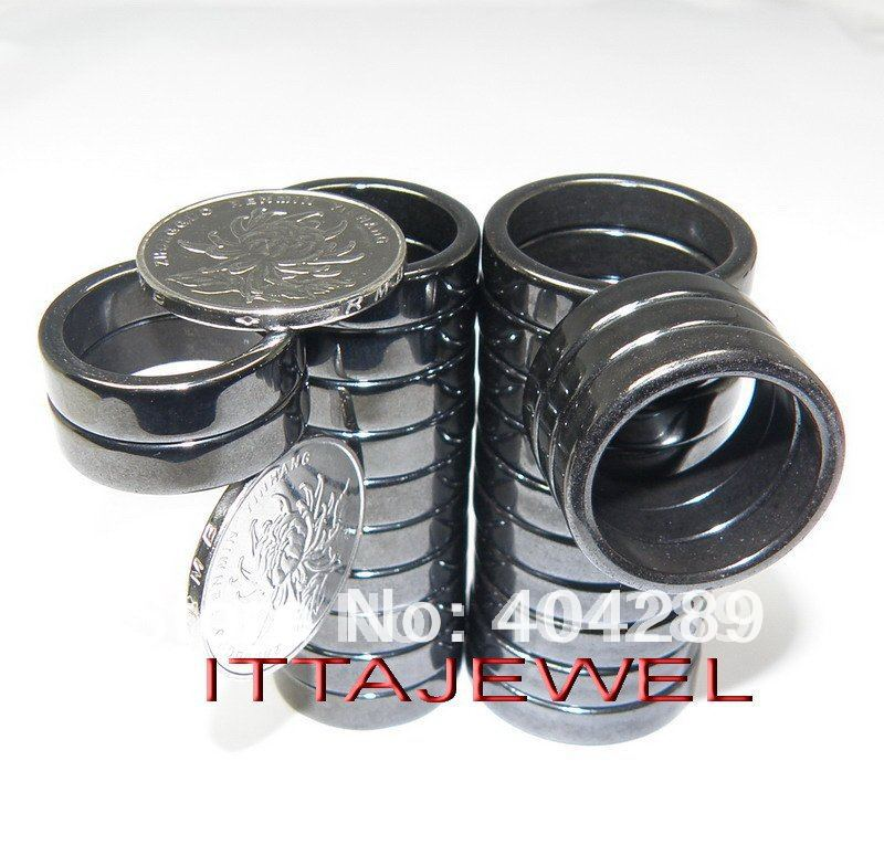 Wholesale 50pcs Flat Band Healing Magnetic Hematite Health Jewelry Rings,Free Shipping<br><br>Aliexpress