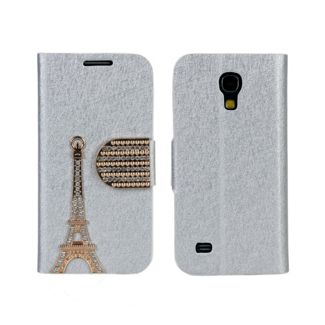 High Quality Retro Style Eiffel Tower Leather Wallet flip Case Cover For Samsung Galaxy S4 Mini i9190  Free Shipping UPS JU-95