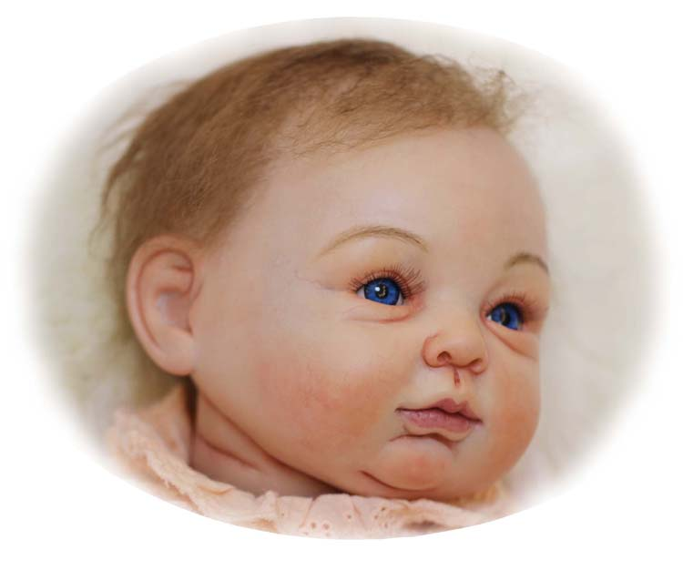 "54cm/22"" New High Quality Simulation Reborn Baby Doll Lovely Girl Doll(China (Mainland))"