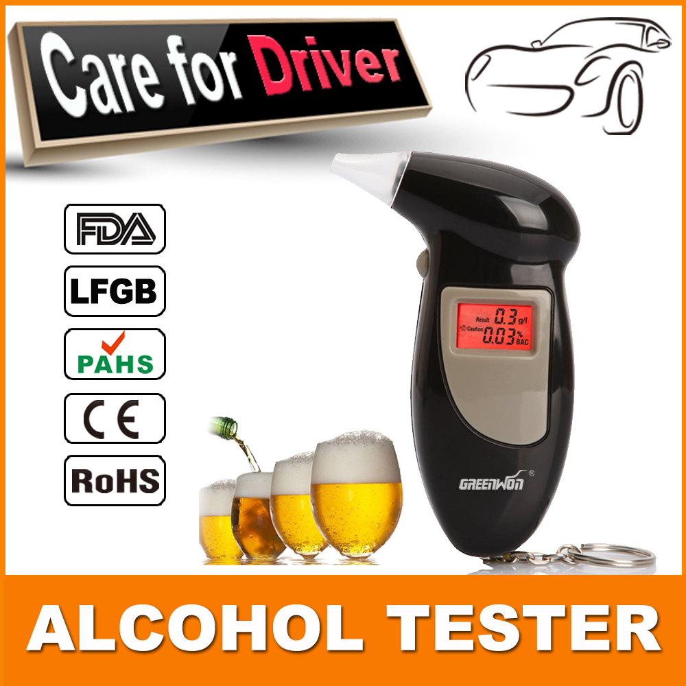 Send 10pcs mouthpieces Fashion and portable digital keychain alcohol tester or breathalyser with backlight wholesale ABT-68S(China (Mainland))