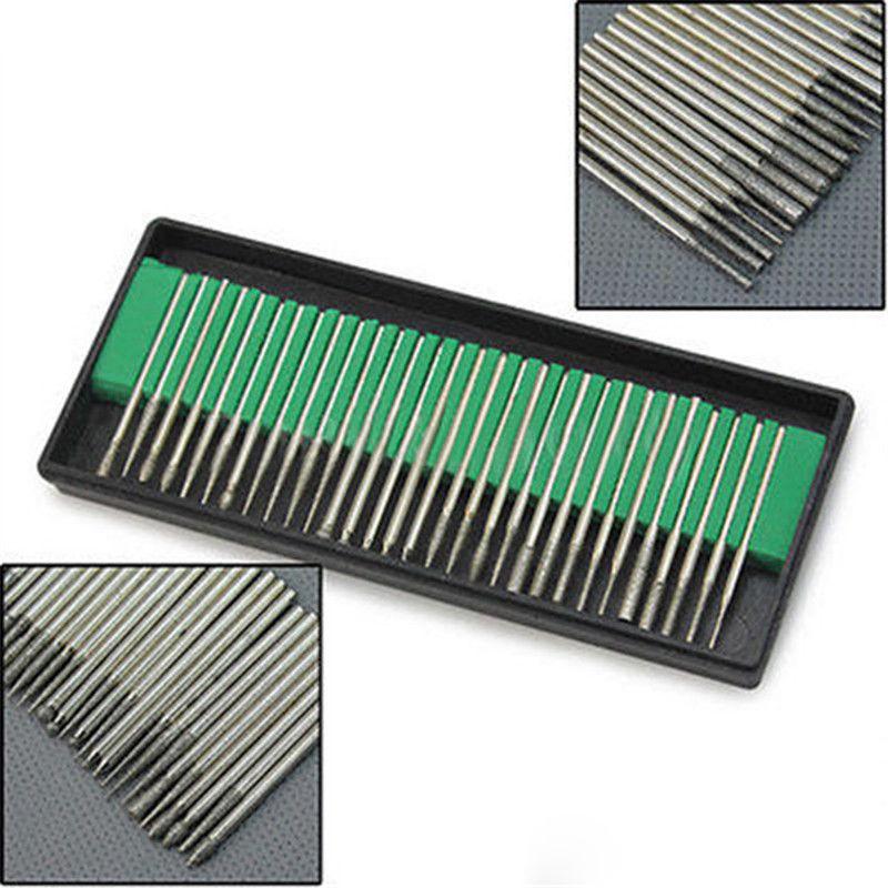 Hot Diamond Burr Bits Drill Kit For Engraving Carving Card Grinding Tool Set 30PCS<br><br>Aliexpress