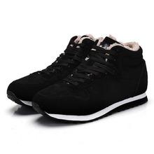 2016 señoras de los altos zapatos de Invierno Botas Zapatos de la Nieve térmica aumentó en yardas grandes 45-46 yardas zapatos de Los Amantes(China (Mainland))