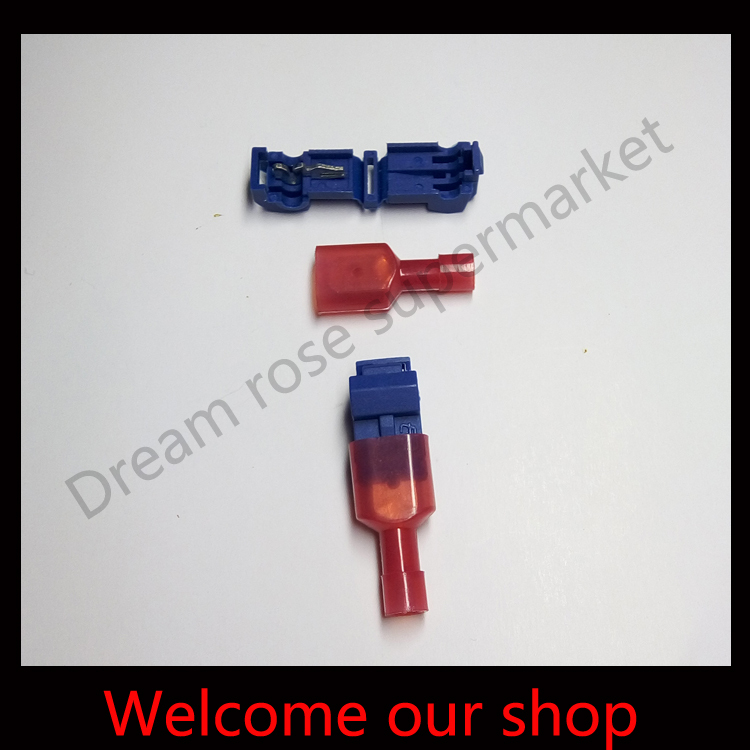 Т-краны & Мужской лопата быстрые соединители проводов соединения  всего 500 пар(500 штук+500pieces каждого типа)