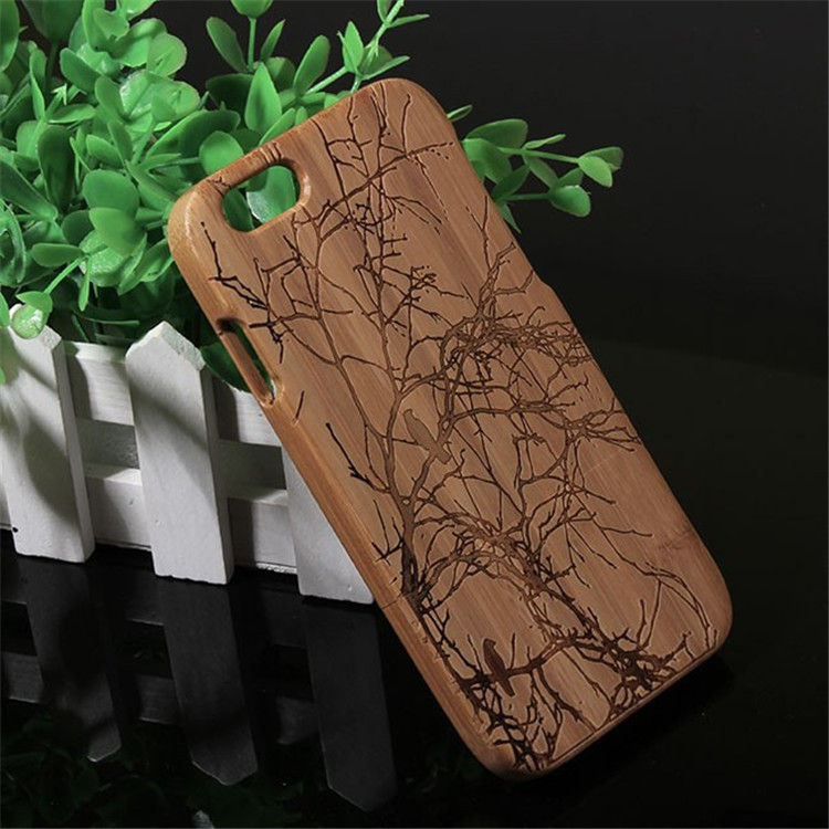 Wood Skin Cover Case For apple iphone 6 6s Caso Bambu +Screen Protector + Package + Tracking Number(China (Mainland))