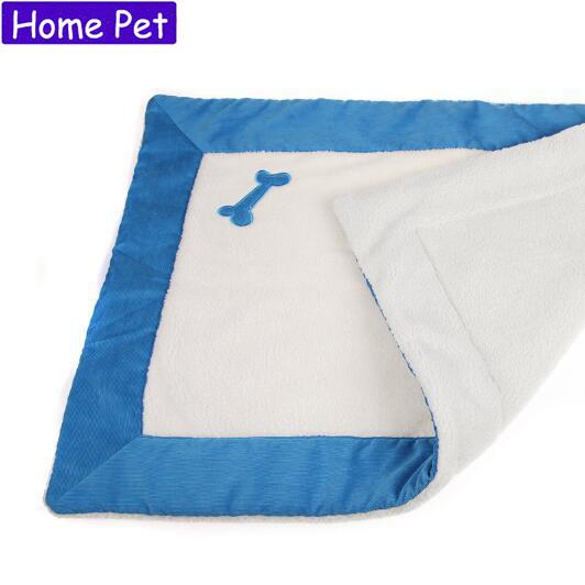 Pet Medium small Dog Cat Mats Dog Bone Shape Embroidery design Cat Bed Mat Autumn Winter Warm Pad Rabbit Mat Soft House H12(China (Mainland))