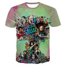 Funny 3D Printed T-Shirts DC Comics Suicide Squad Graphic T Shirt Men Colorful Summer Casual Tees Harajuku Style Anime Camisetas(Hong Kong)