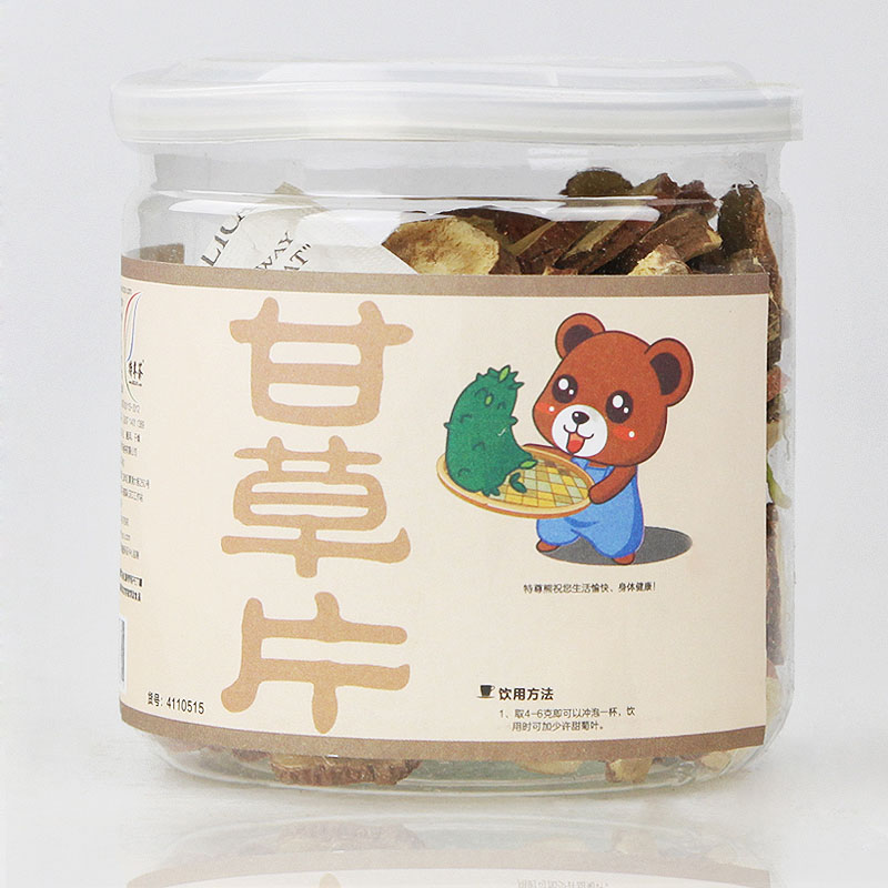 Top grade liquorice tablets gift small tank 110g tea herbal tea wafer full<br><br>Aliexpress