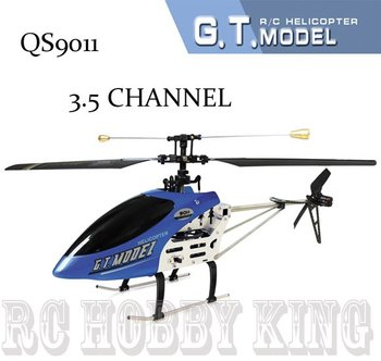 Free shipping QS9011 50cm Single Blade 3.5Ch Gyro Metal Remote Control rc Helicopter with Lights Free blade qs 9011