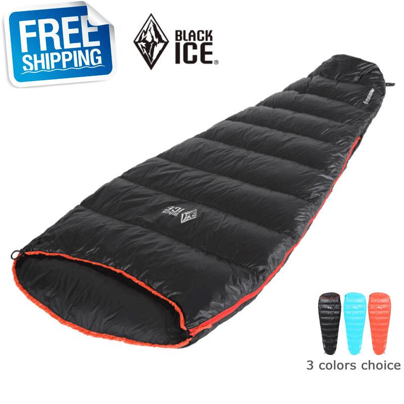 Blackice B200 Mummy Cap Black/Blue/Orange Single M/L Ultra Light Splicing Sleeping Bag Carrying - Forest Yan's Outlet Store store