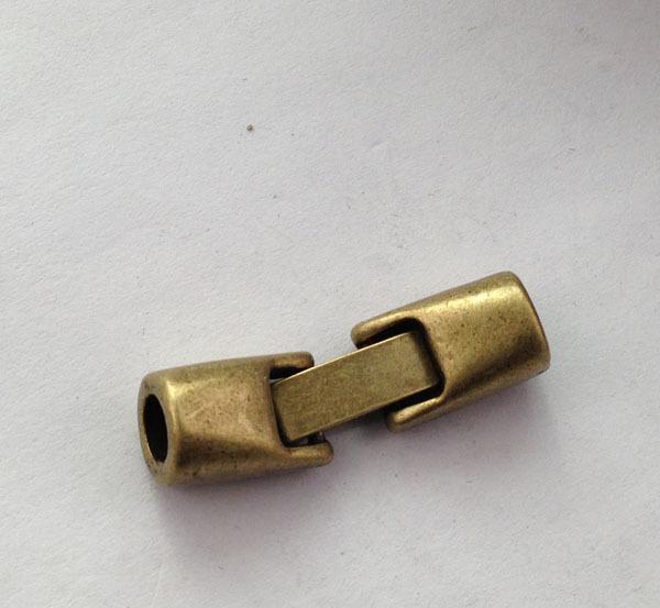 20sets Antiqued Bronze Clip Hook Clasps for 5mm Leather Bracelet A13268B