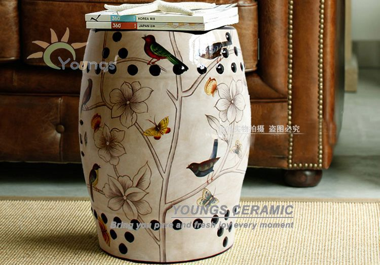 Modern chinese decorative ceramic drum stool for home and garde decoraton<br><br>Aliexpress