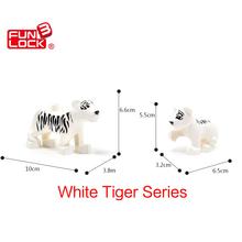 Funlock Duplo Figure Blocks White Tiger Series Animal Toys For Kids