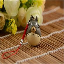Japanese Animation My Neighbor Totoro Figure Phone straps Anime Totoro Pendants Cassic Toys Best Gift free shipping
