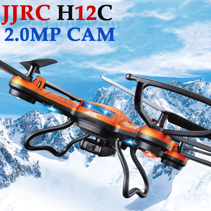 NEWEST!!! 2.4GHz 4CH RC Helicopter 6 Axis Gyroscope 360 Degree Drones RC Quadcopter with 2.0MP HD Camera JJRC H12C(China (Mainland))