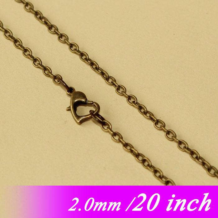 """Здесь можно купить  Bulk 20"""" Jewellery Metal Cable Chains With Heart Clasps Metal For 2mm Necklace Links Pendants Accessories Antique Bronze Plated  Ювелирные изделия и часы"""