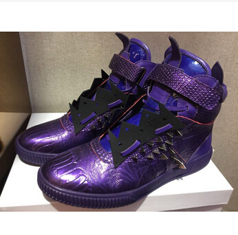 Patrick Moore 2015 shoes purple men Maison Martin Margiela high leather - Xicongtianxiang store