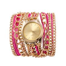 2015 la nueva alta calidad de cadena de aleación mujeres reloj pulsera estilo hawaiano Casual relojes de cuarzo 4 colors relojes de ginebra