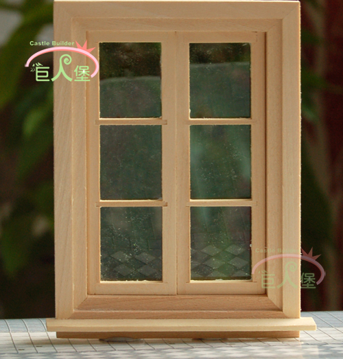 Doll House Diy Material Rectangle 2 6 Window Variegating