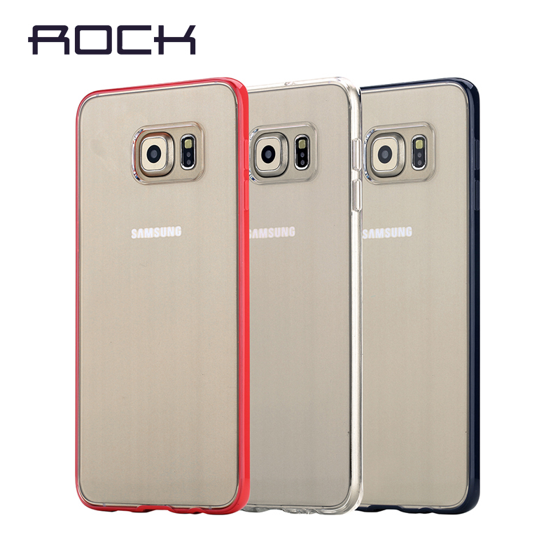 ROCK Outlets Pure Series Phone Case for Samsung Galaxy S6 Edge Plus Luxury Silicon Frame Plastic Back Covers Phone Shell(China (Mainland))