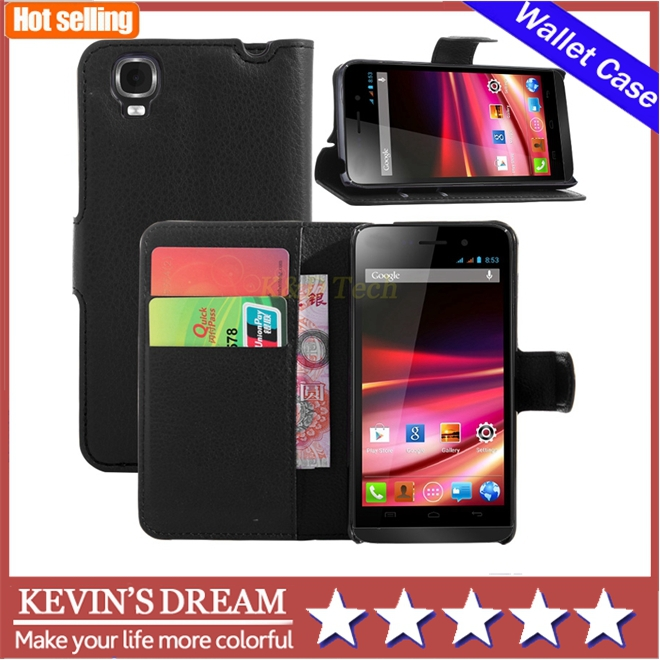 100pcs Luxury Mobile Phone pu leather Wallet Cover Flip Cell Phone Carry Case For Wiko Fizz(China (Mainland))