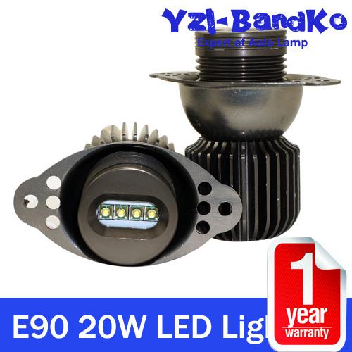 2pcs 20W CREE For BMW Angel Eyes Headlight LED Auto Marker Light 06-08 E90 E91Sedan Pre-Facelift With CREE XBD 800-1000Lumens(China (Mainland))